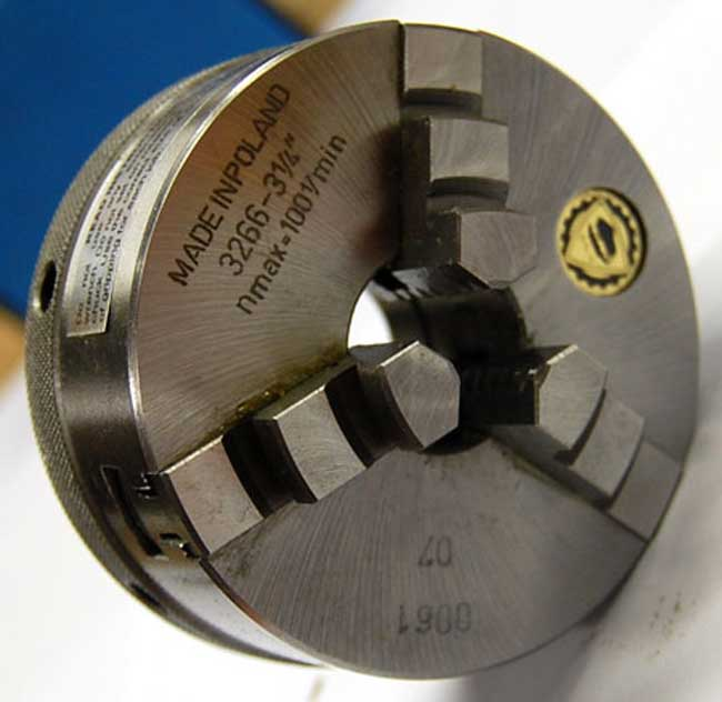 Bison 3 3 Jaw Self Centering Quick Clamping Scroll Lathe Chuck T I R 0 00059