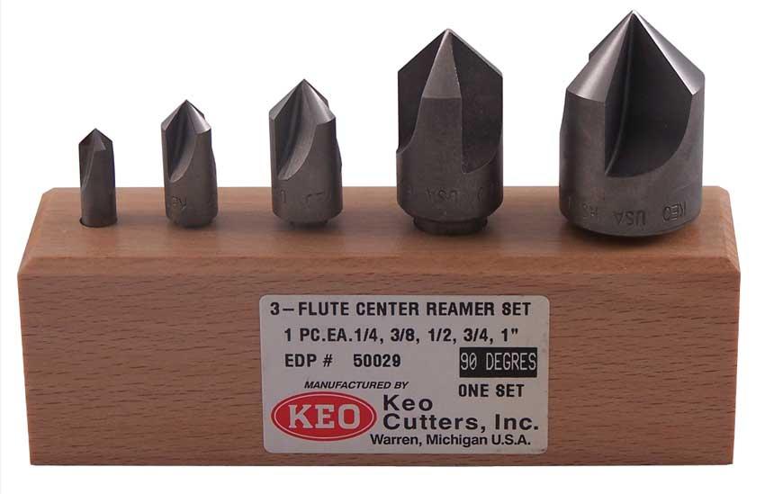 """1-1//4/"""" 82 Degree 3-Flute Center Reamers Countersinks"""