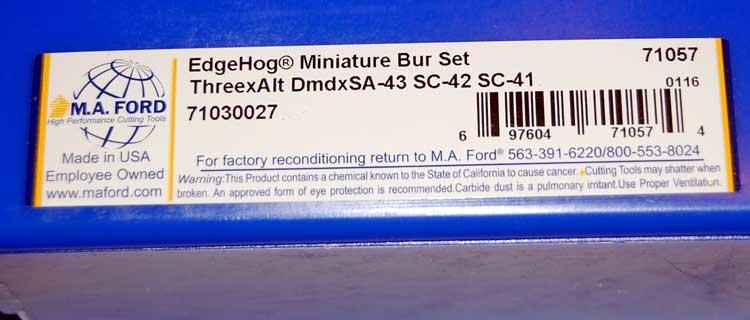 "eliptical shape,double-cut made in USA-new 1//4/"" shk 5pcs SE-3 carbide burrs"