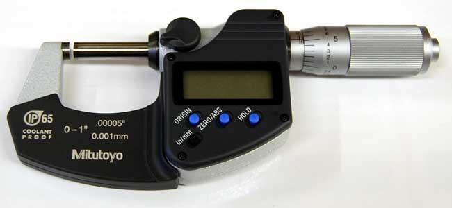 IP65 1-2//25.4-50.8 mm Mitutoyo 293-345-30 Digimatic Micrometer Range