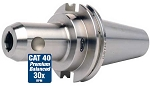 "GS CAT40 1/4"" x 1.38"" 30K RPM CNC Direct Coolant Stubby End Mill Holder-.0002"