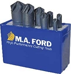 7 Pcs. M.A Ford  90 Deg. Series 79 Chatterless Six Flute (6 FLT) Countersinks Set