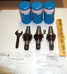 14 Pc Techniks CAT 40 ER 16-4 25K CNC Collet Chucks Kit