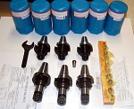17 Pc. Techniks CAT 40 ER 16 CNC Chucks Kit-Coolant