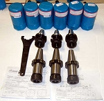 6 Pc. Techniks CAT 40 ER 32 25K RPM CNC Collet Chucks