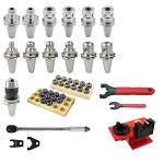 60 Pcs.  HPI-Pioneer CAT 40 Performance Tooling Kit for Haas CNC Mill (New Machine)