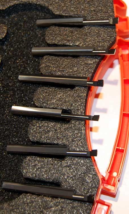 1.5 Overall Length 0.500 Maximum Bore Depth 8 mm Shank Diameter 0.080 Minimum Bore Diameter Micro 100 DBM-080500 Coolant Through Boring Tools for MIniDigi Boring Heads
